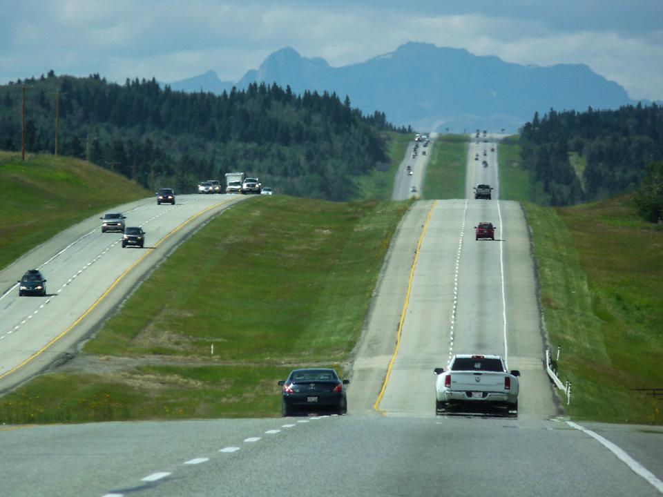 Motorway in die Rockys